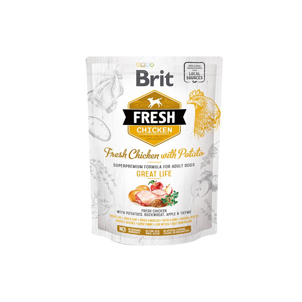 Probe Brit Fresh Hund – Adult  – Chicken – Great Life