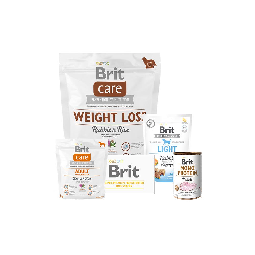 Brit Care Dog - Probierpaket - Weight Loss - Rabbit & Rice