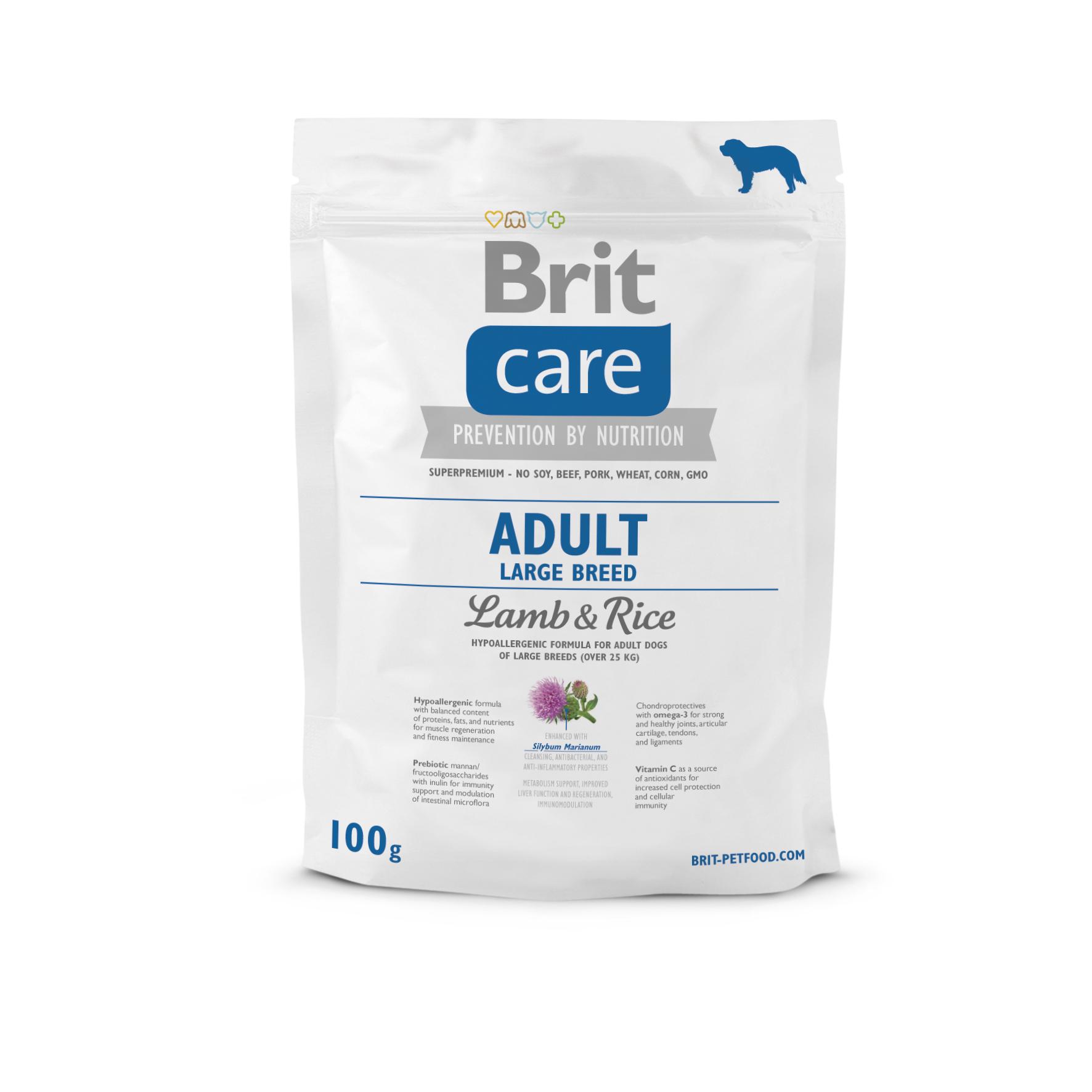 Probe Brit Care Dog - Adult Large Breed Lamb & Rice
