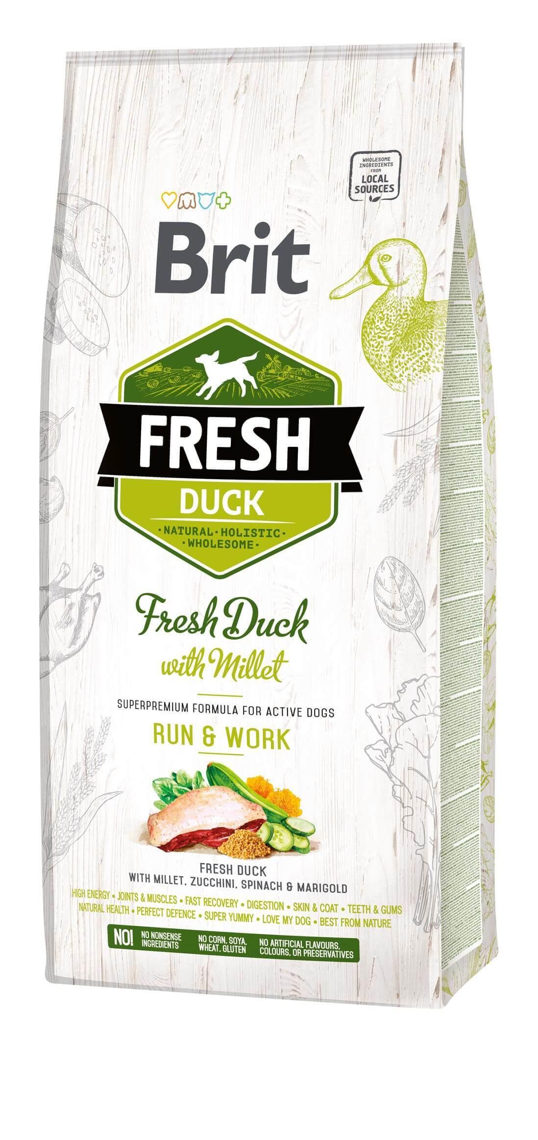 Brit Fresh Hund – Active dogs – Duck – Run & Work