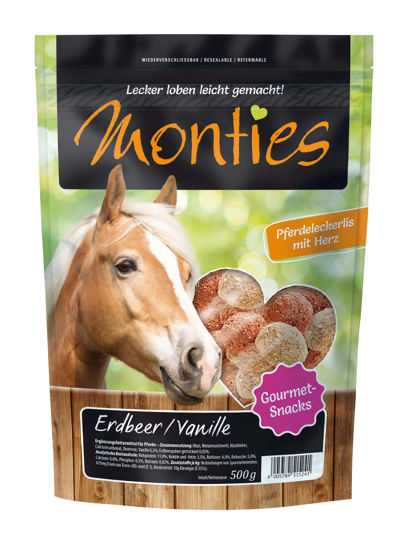 Monties - Erdbeer/Vanille-Snacks