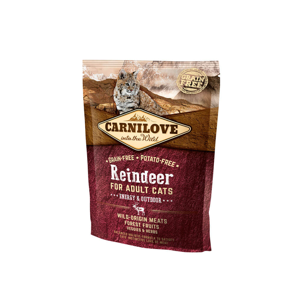 Probe Carnilove Katze - Reindeer/ Energy & Outdoor für Freigänger Katzen