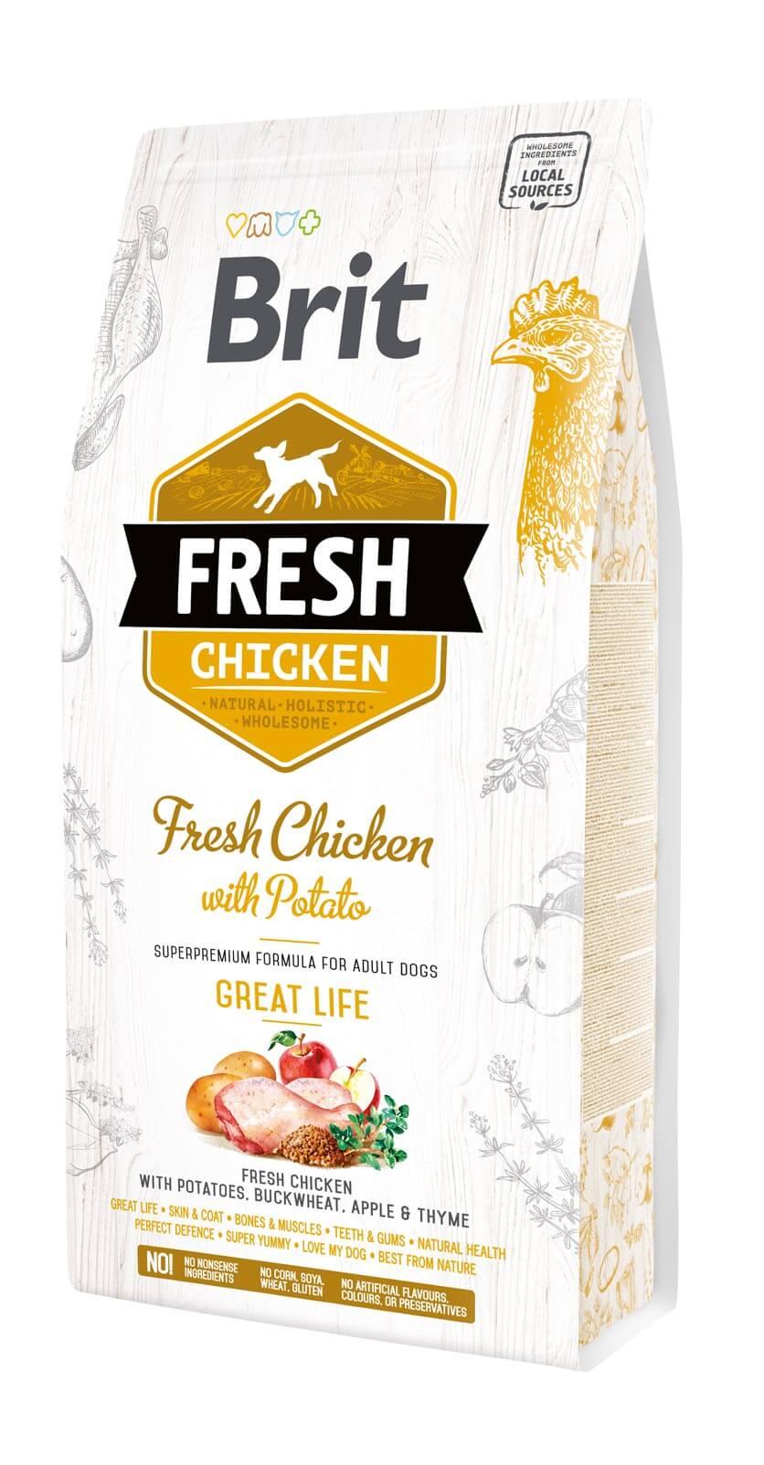 Brit Fresh Hund – Adult  – Chicken – Great Life