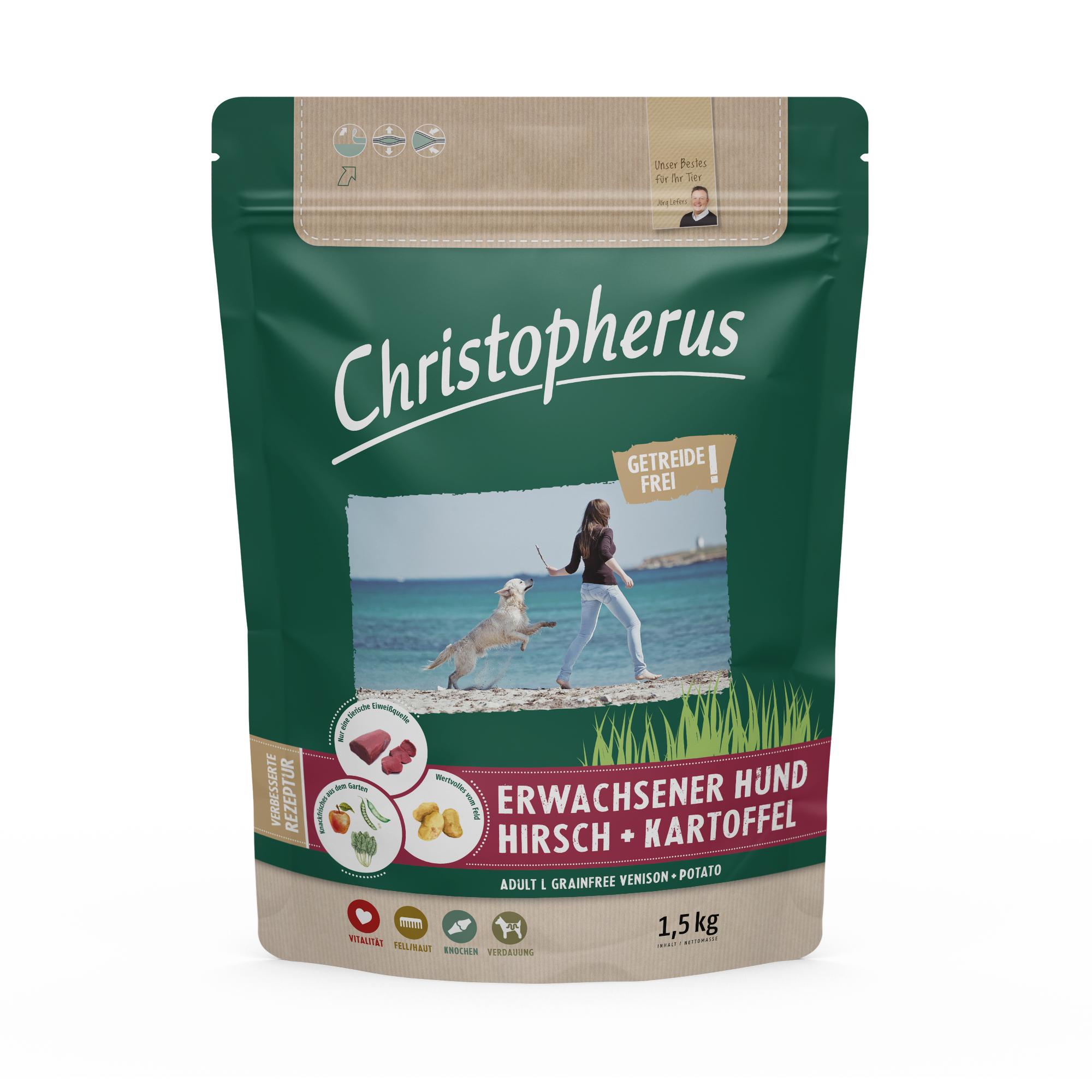 Christopherus – Getreidefrei Hirsch + Kartoffel