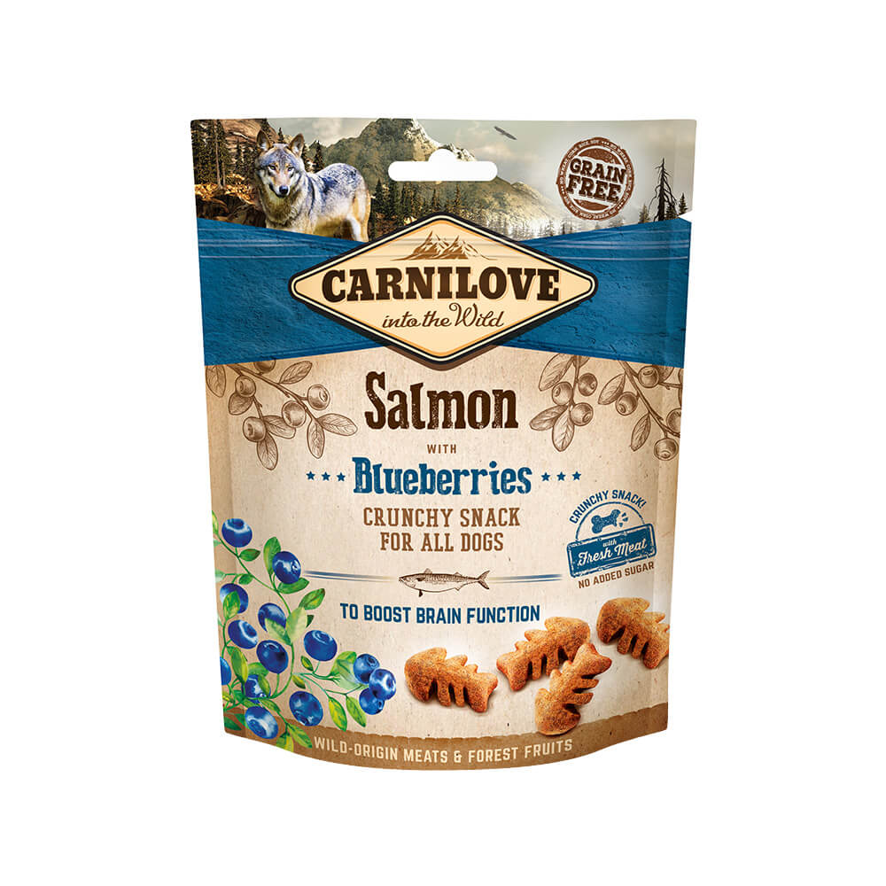 Carnilove Hund Crunchy Snack – Salmon with Blueberries
