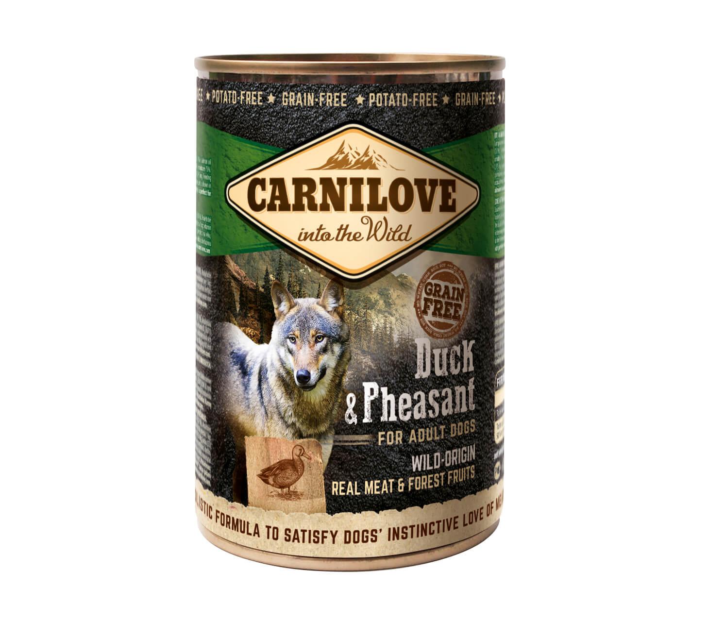 Carnilove Hund – Duck & Pheasant – Wild Meat Erwachsener Hund (6er Pack)