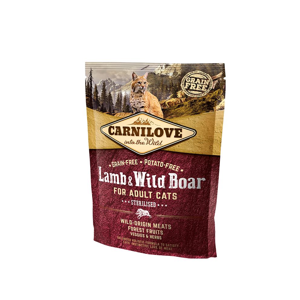 Probe Carnilove Katze - Lamb & Wild Boar/ Sterilised auch für ältere Katzen