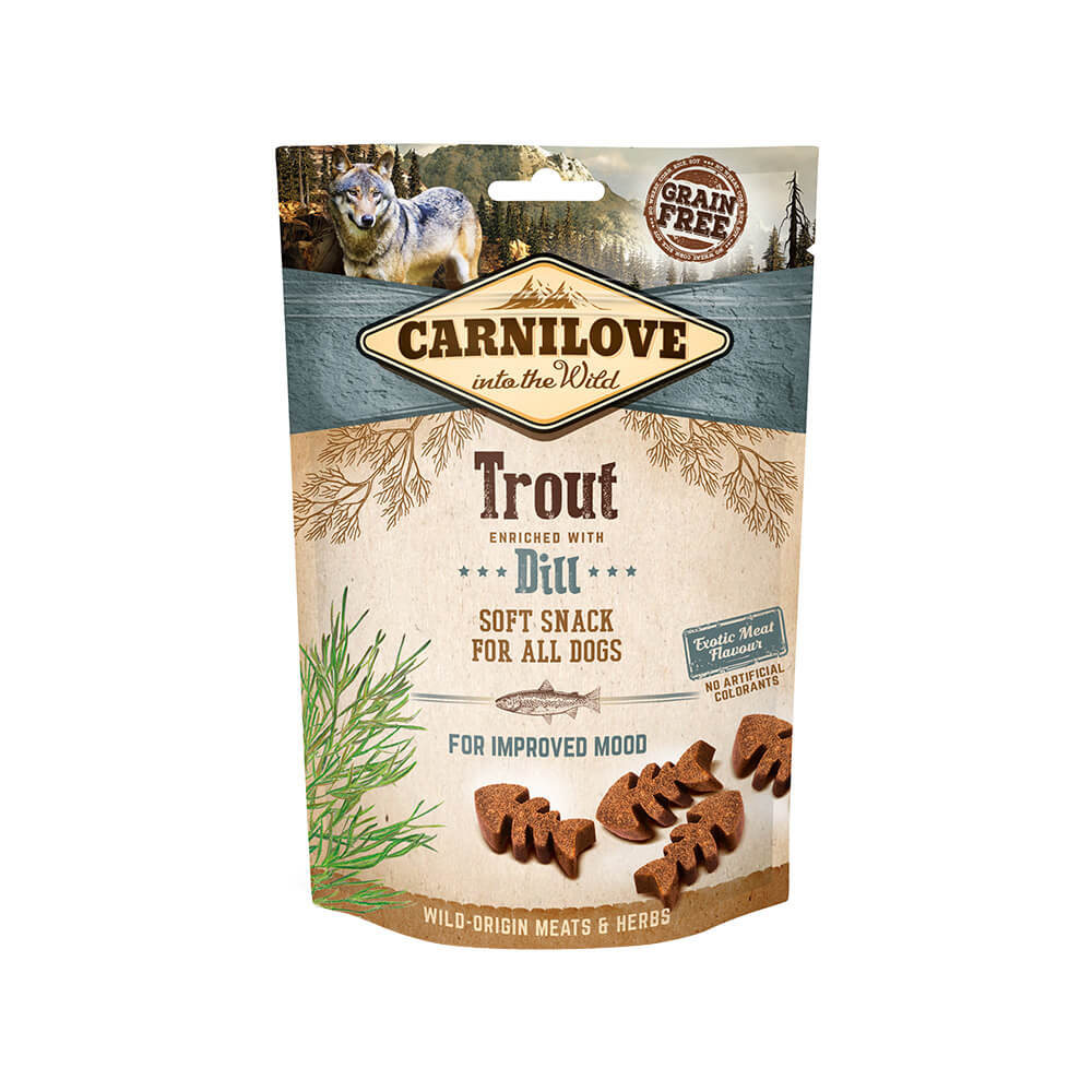 Carnilove Hund Soft Snack – Trout with Dill