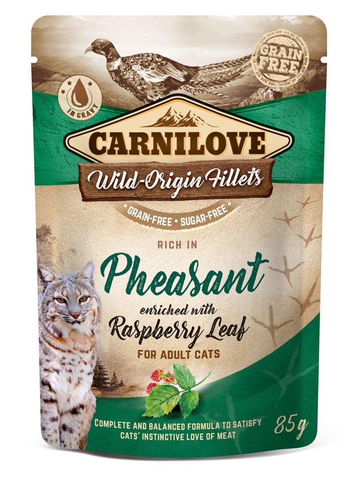 Carnilove Katze Pouch – Pheasant with Raspberry Leaves