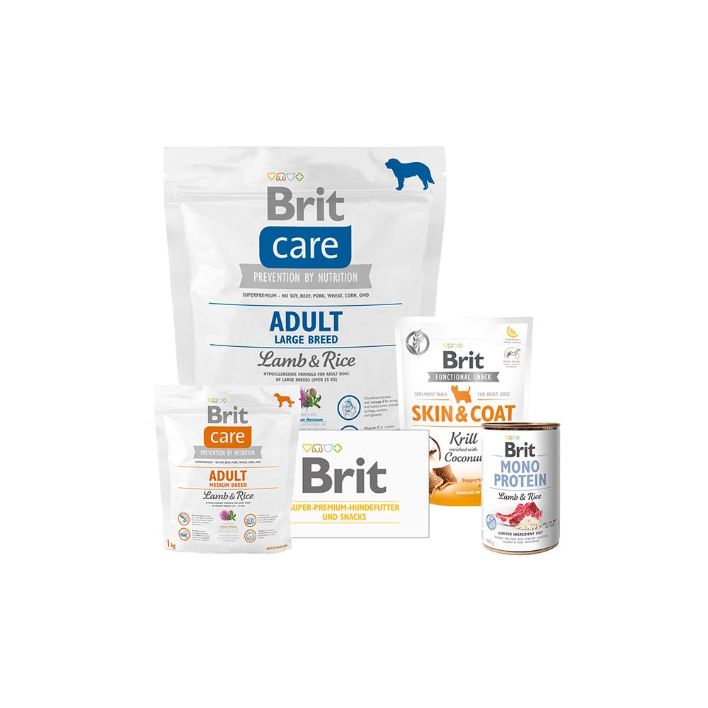 Brit Care Dog - Probierpaket - Adult Large Breed - Lamb & Rice