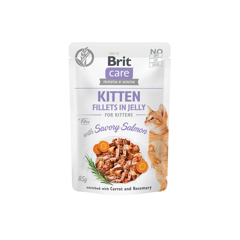 Brit Care Cat - Fillets in Jelly with Savory Salmon - Kitten
