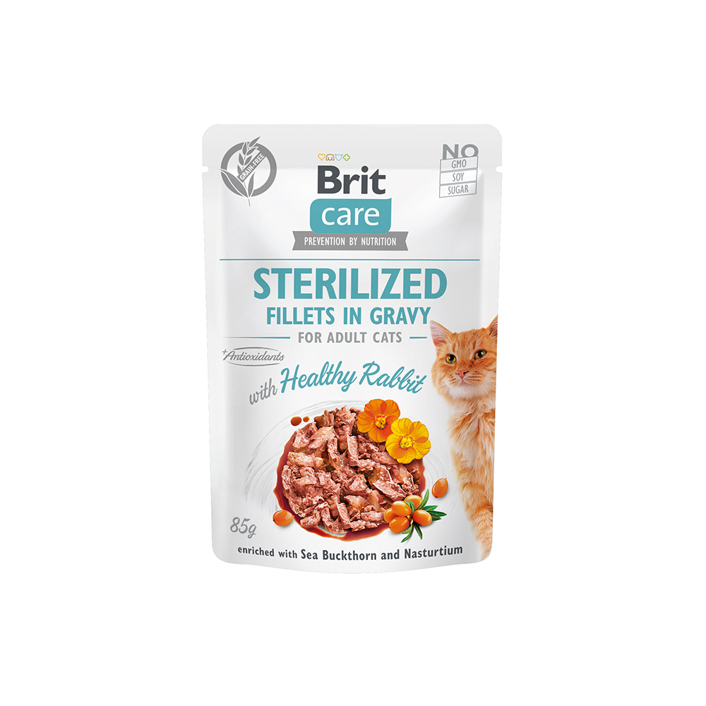 Brit Care Cat - Fillets in Gravy with Healthy Rabbit - Sterilized