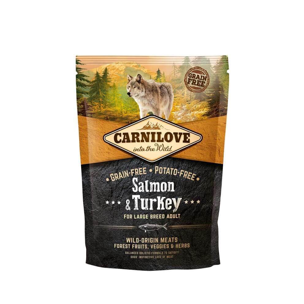 Probe Carnilove Hund - Salmon & Turkey ausgewachsene Hunde großer Rassen