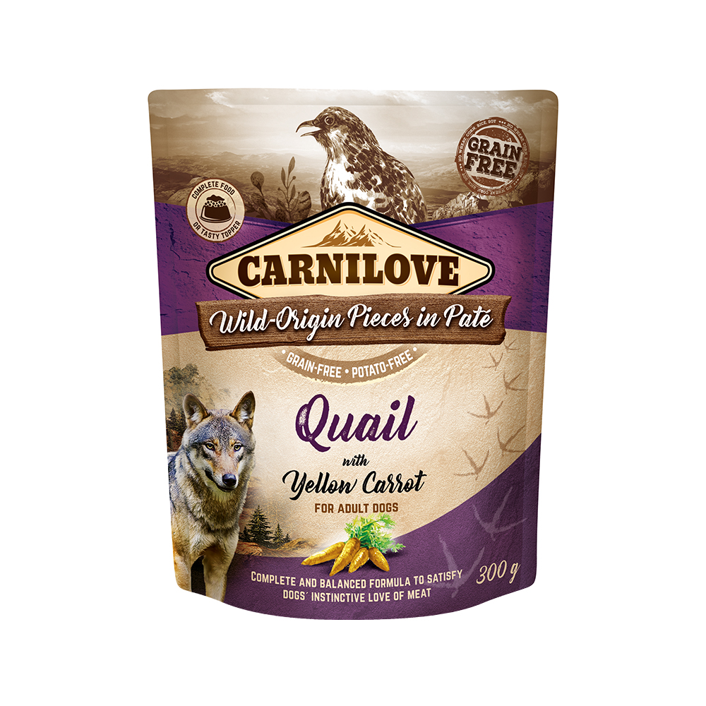 Carnilove Hund Pouch – Quail with yellow Carrot
