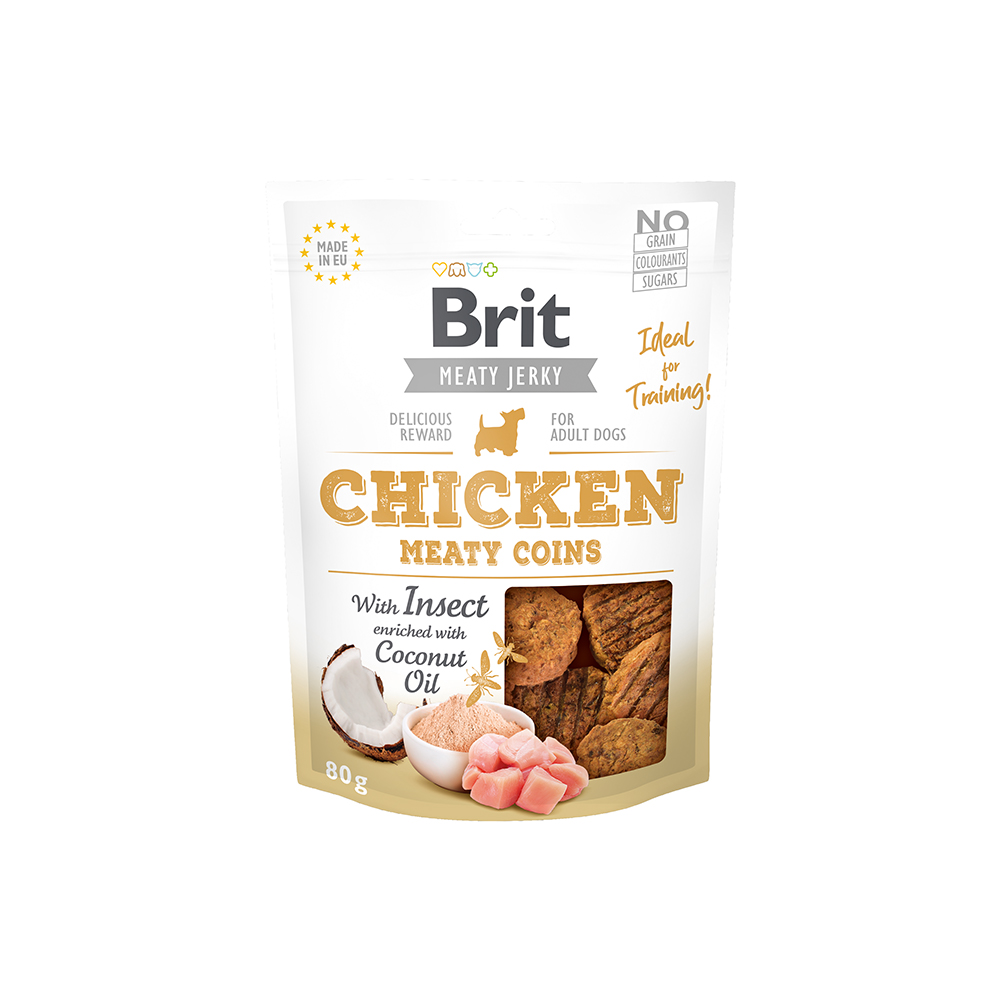 Brit Meaty Jerky - Chicken with Insect - Meaty Coins