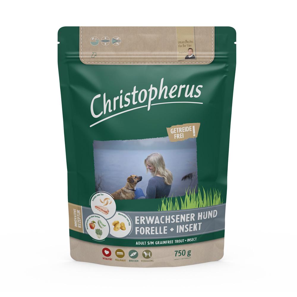 Christopherus - Getreidefrei Forelle + Insekt