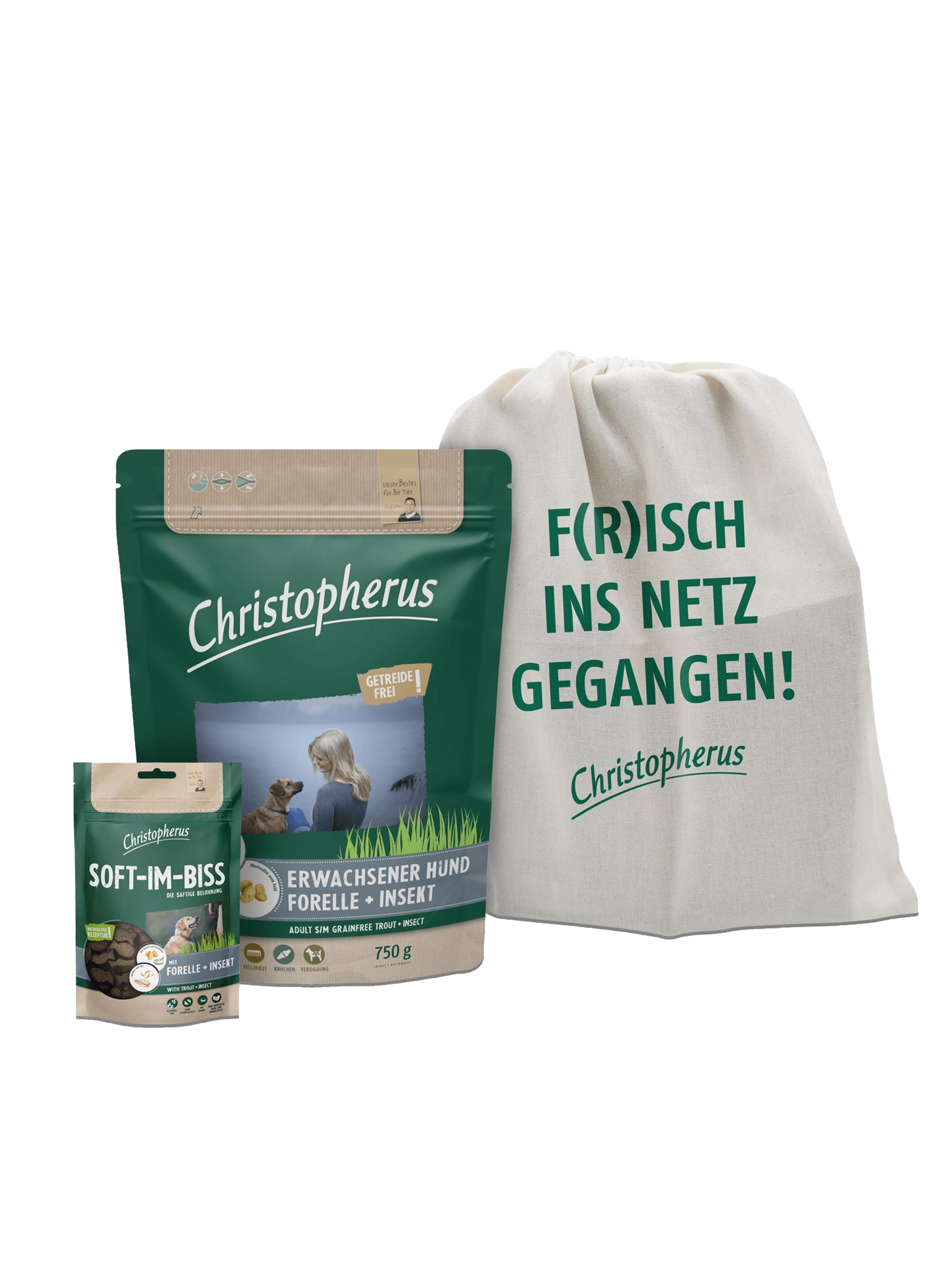 """Christopherus """"Forelle liebt Insekt"""" Probierpaket"""