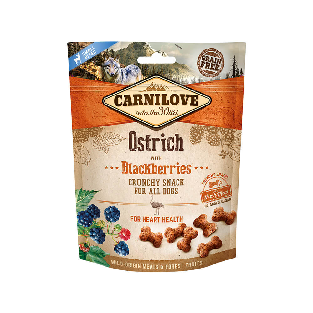 Carnilove Hund Crunchy Snack – Ostrich with Blackberries