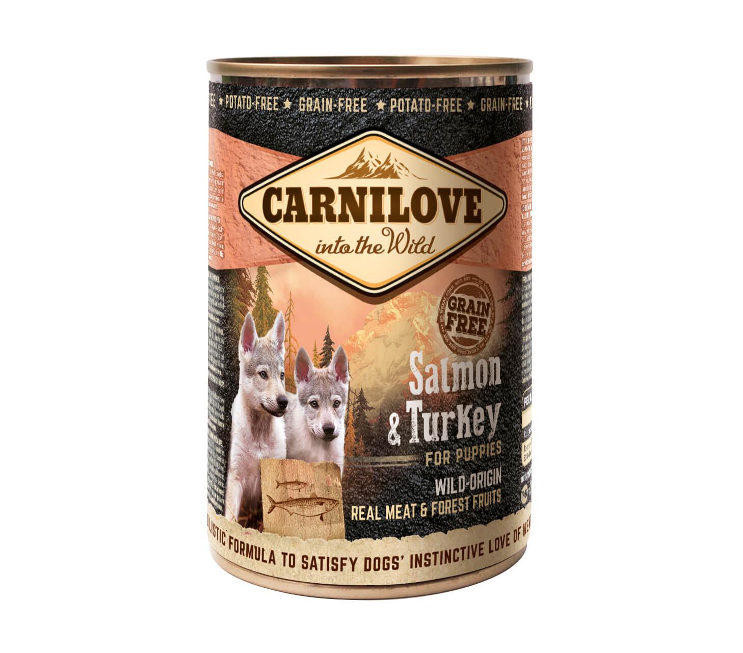 Carnilove Hund – Salmon & Turkey – Wild Meat Welpen & Junghunde (6er Pack)