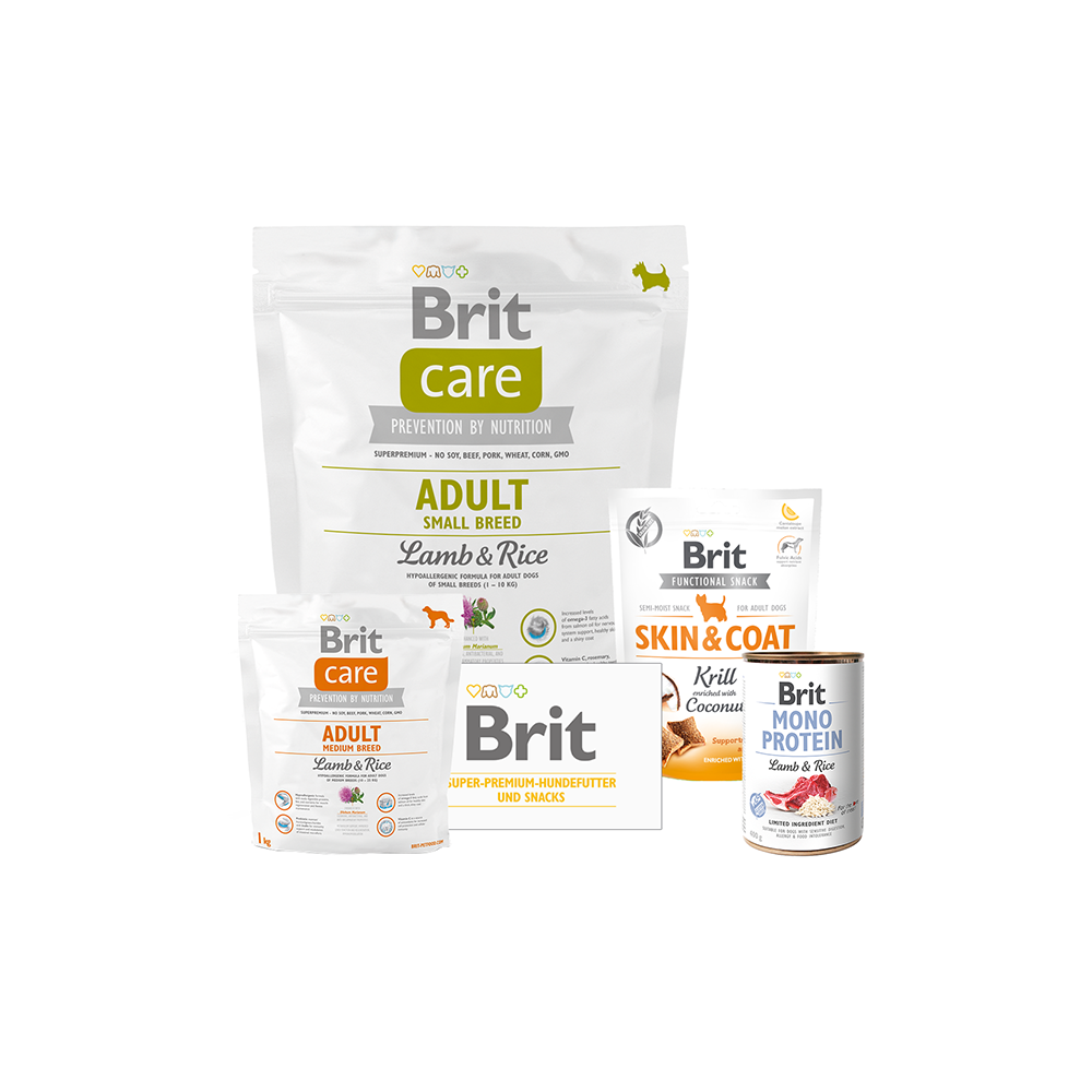Brit Care Dog - Probierpaket - Adult Small Breed - Lamb & Rice