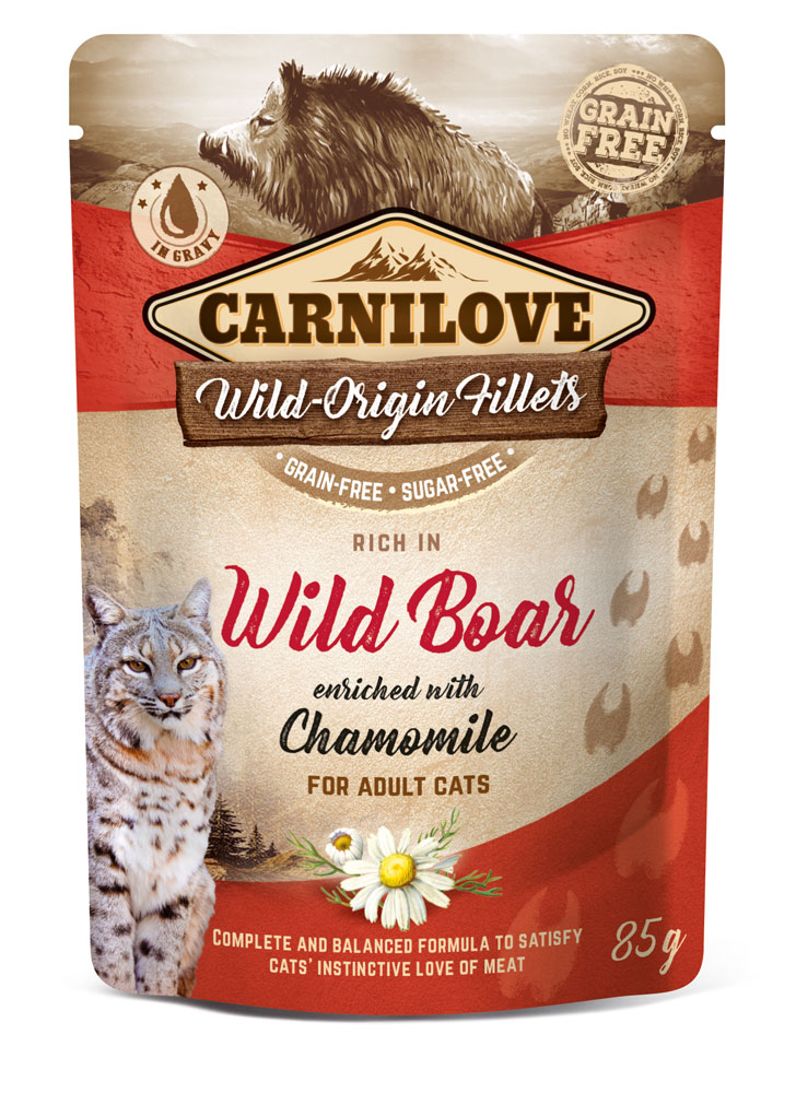 Carnilove Katze Pouch – Wild Boar with Chamomile