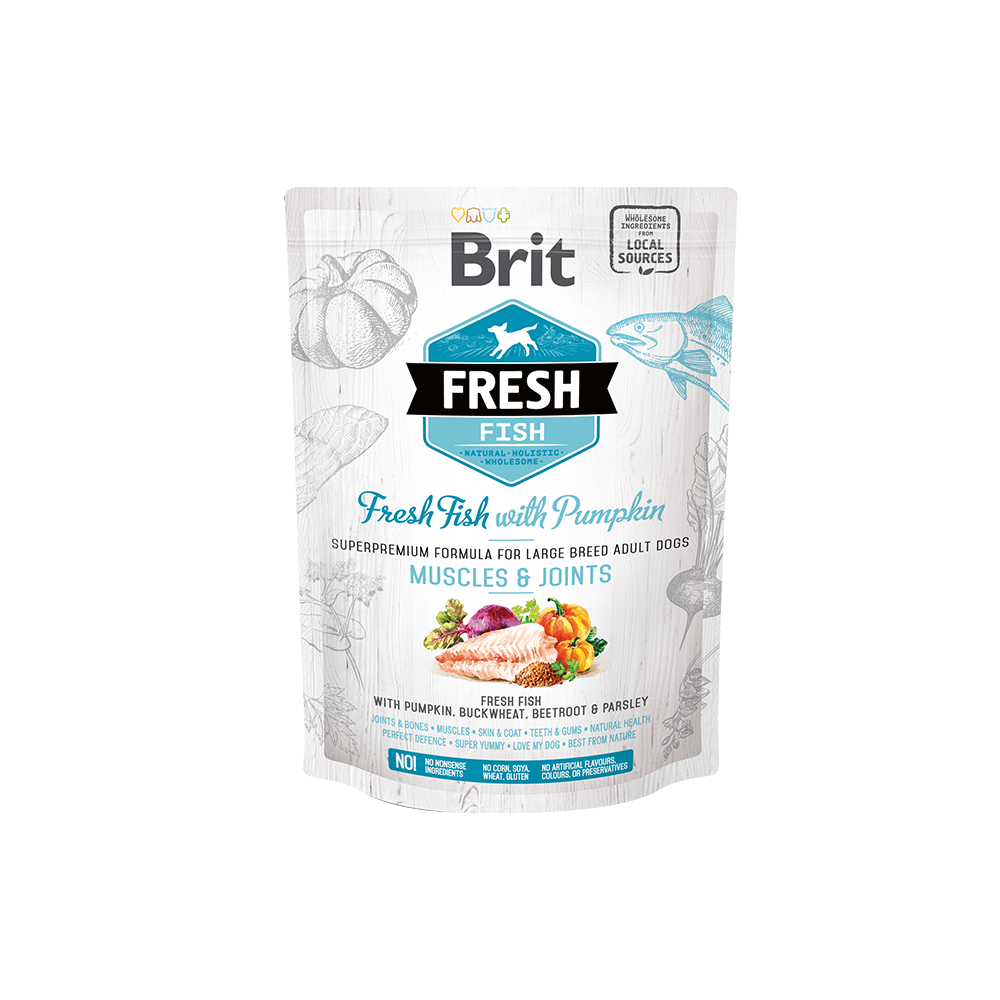 Probe Brit Fresh Hund  – Adult Large Breed –  Fish –  Muscles & Joints