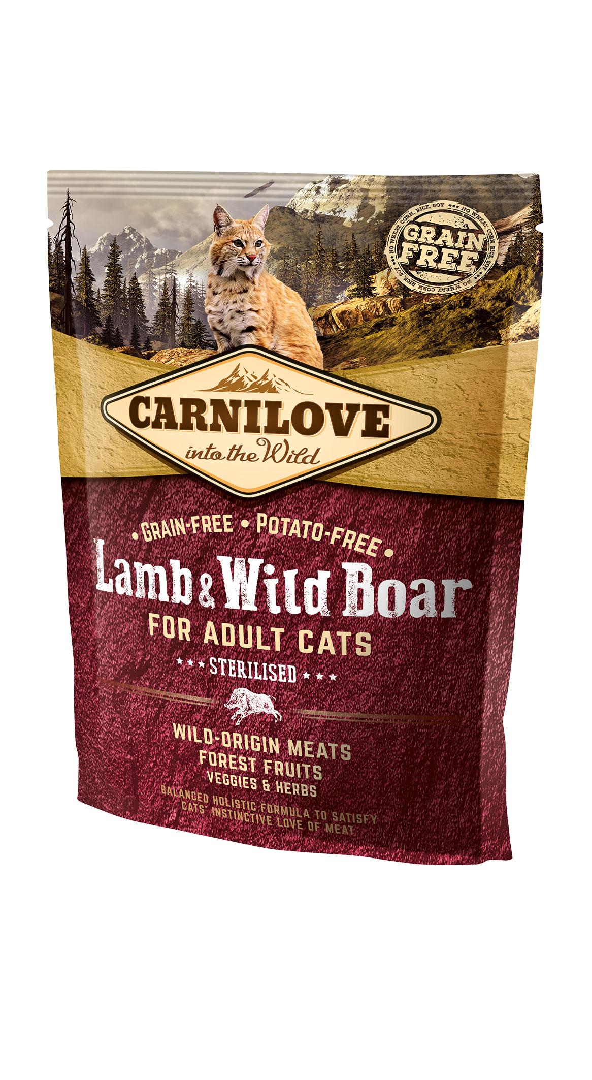 Carnilove Katze - Lamb & Wild Boar/ Sterilised auch für ältere Katzen