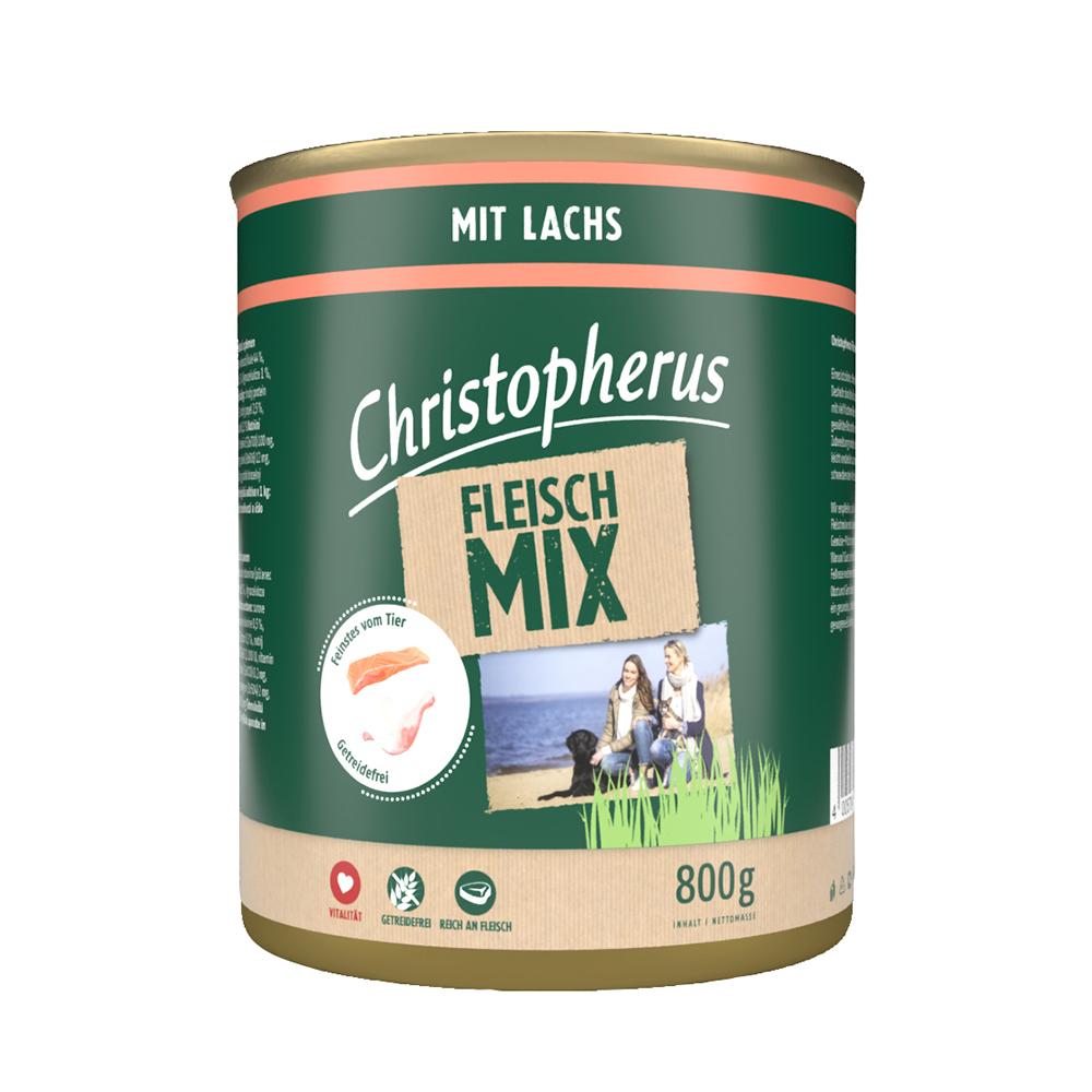 Christopherus – Fleischmix mit Lachs (6er Pack)