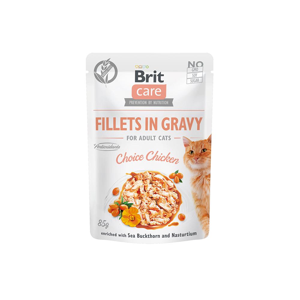 Brit Care Cat - Fillets in Gravy Choice Chicken