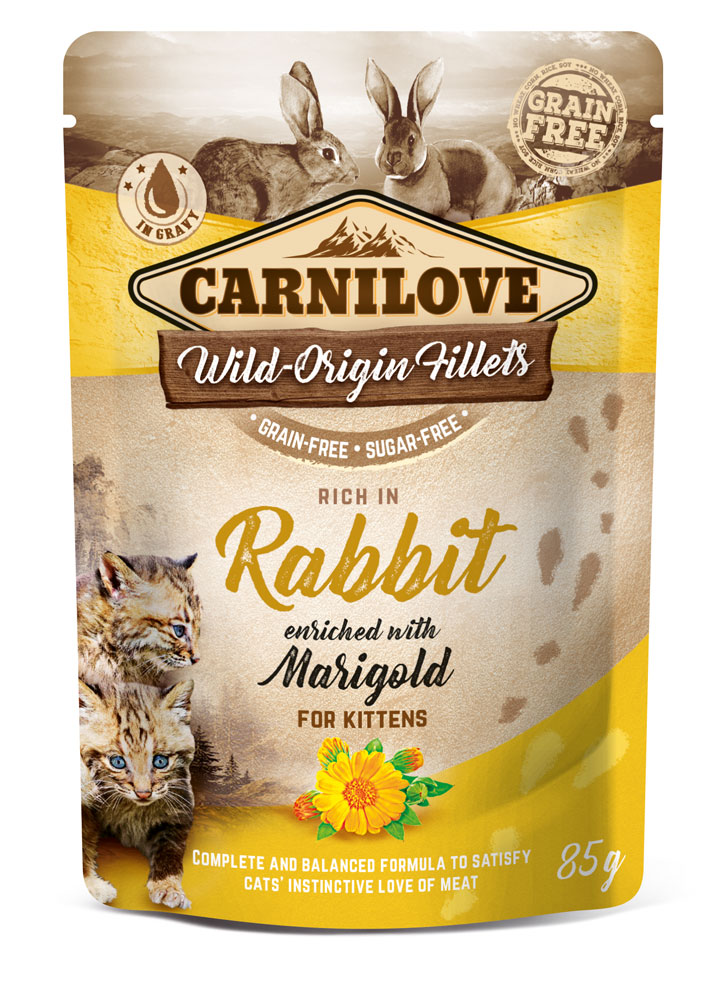 Carnilove Katze Pouch – Rabbit with Marigold for Kittens