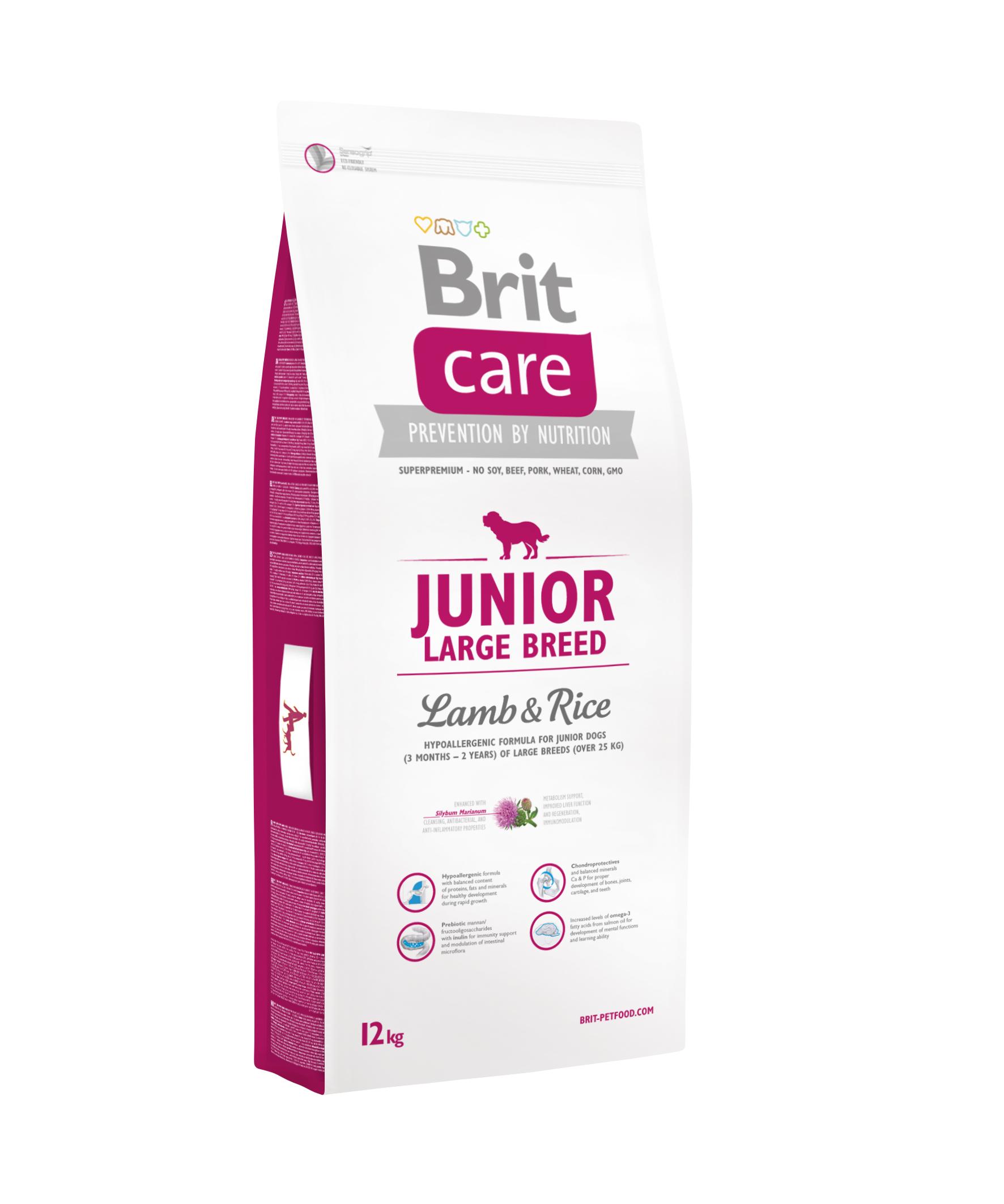 Brit Care Dog - Junior Large Breed Lamb & Rice