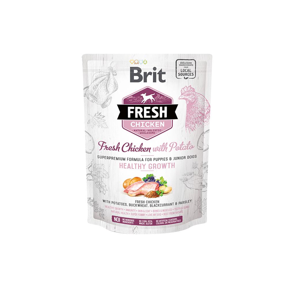 Probe Brit Fresh Hund - Puppy & Junior - Chicken - Healthy Growth