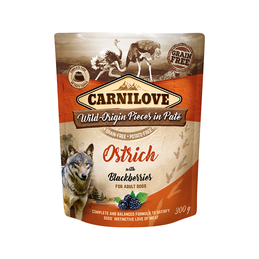 Carnilove Hund Pouch – Ostrich with Blackberries