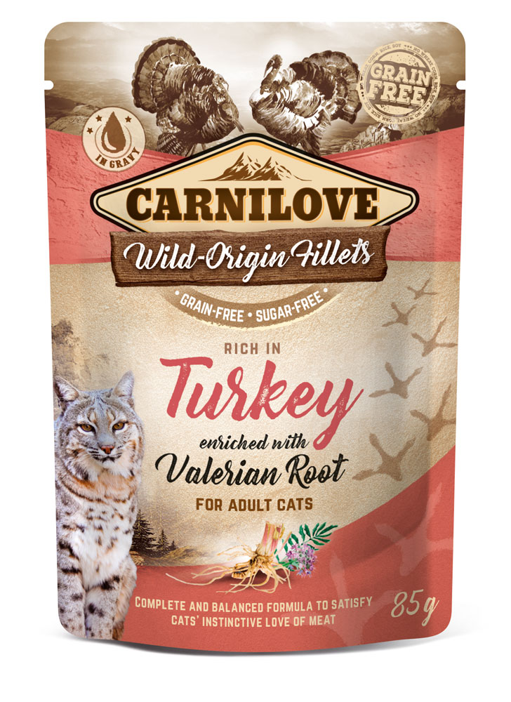 Carnilove Katze Pouch – Turkey with Valerian Root