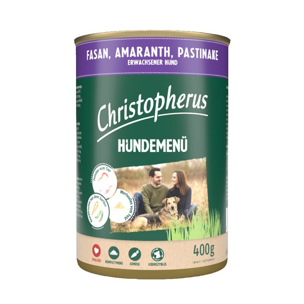 Christopherus Hundemenü mit Fasan, Amaranth, Pastinake (6er Pack)