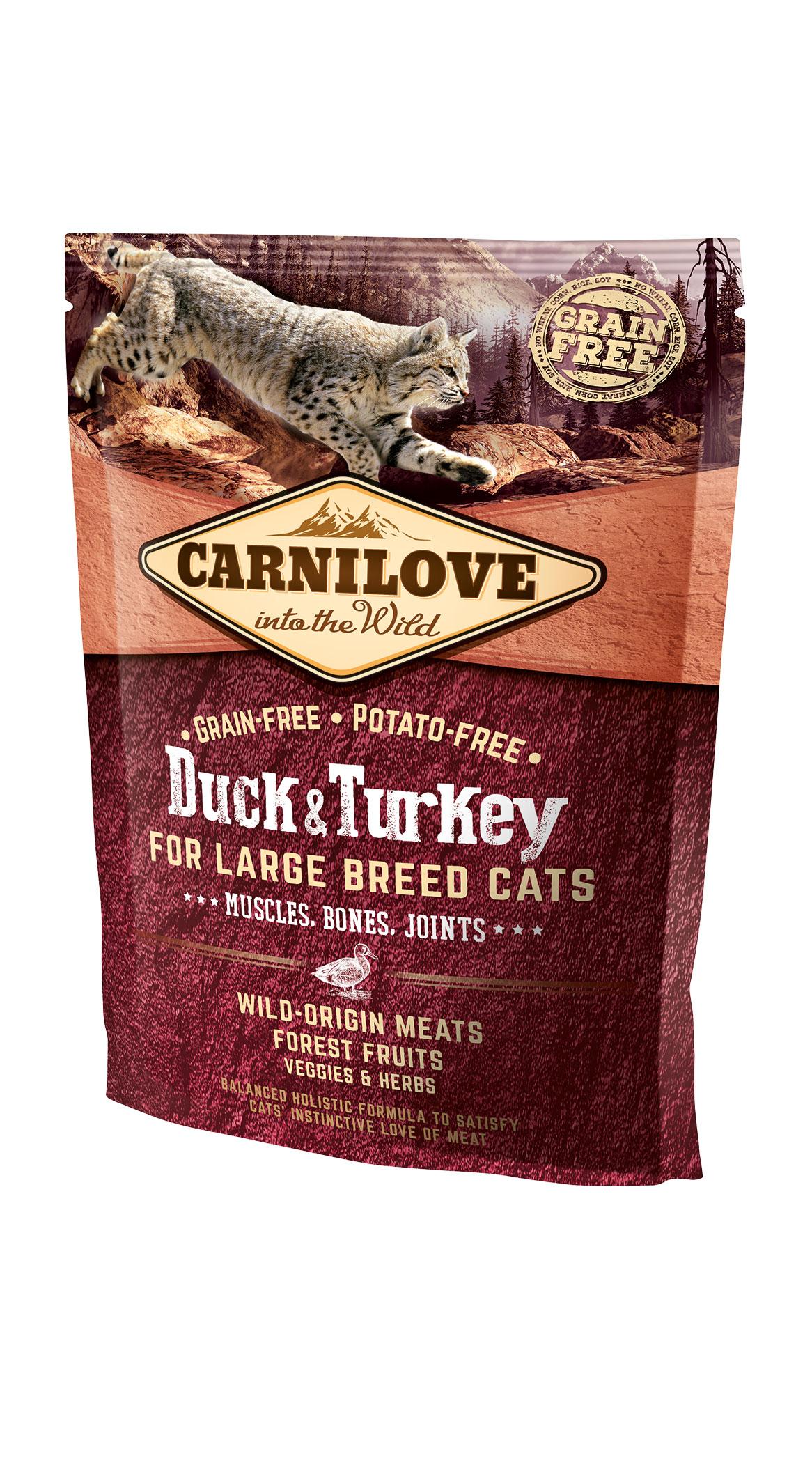 Carnilove Katze - Duck & Turkey ausgewachsene Katzen großer Rassen