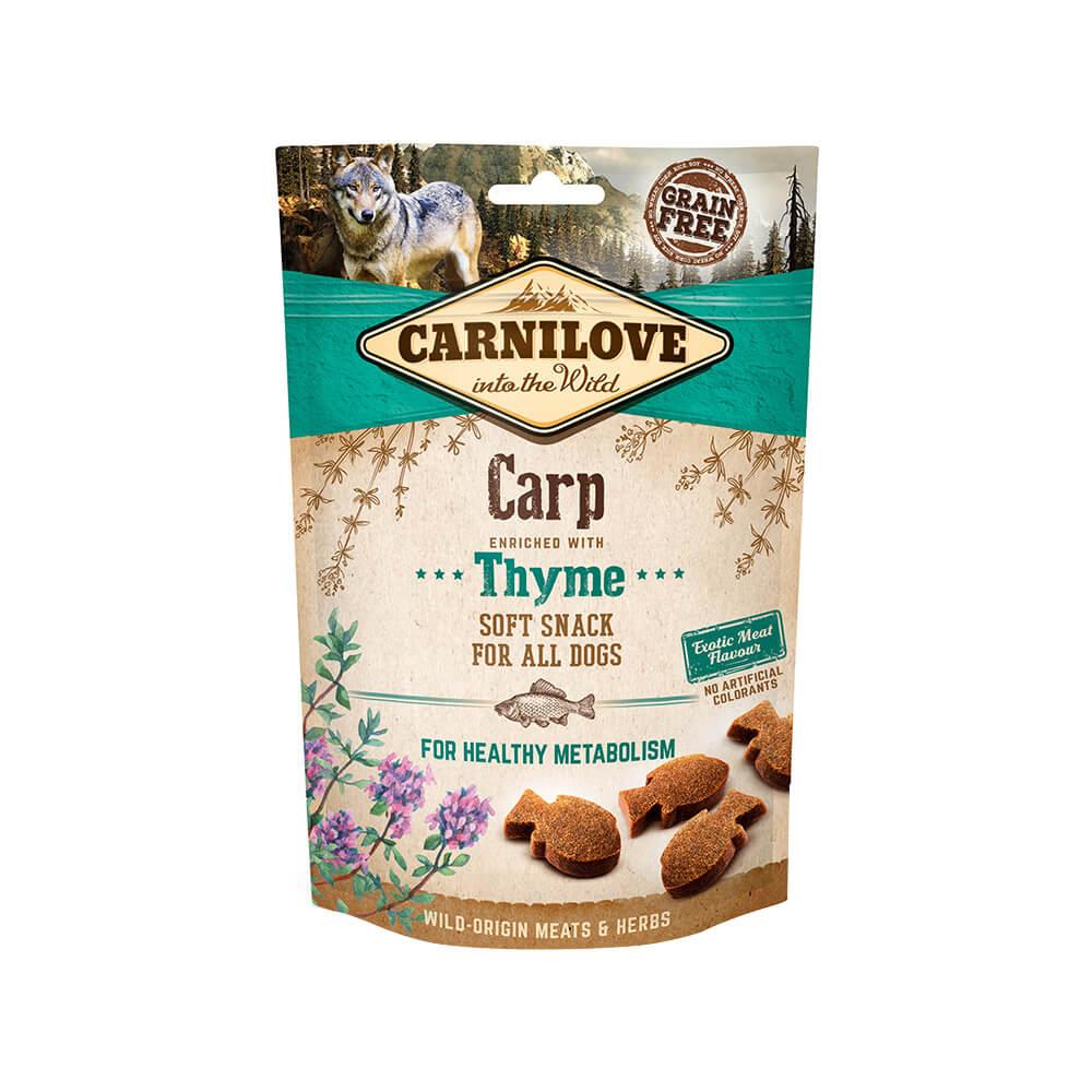 Carnilove Hund Soft Snack – Carp with Thyme
