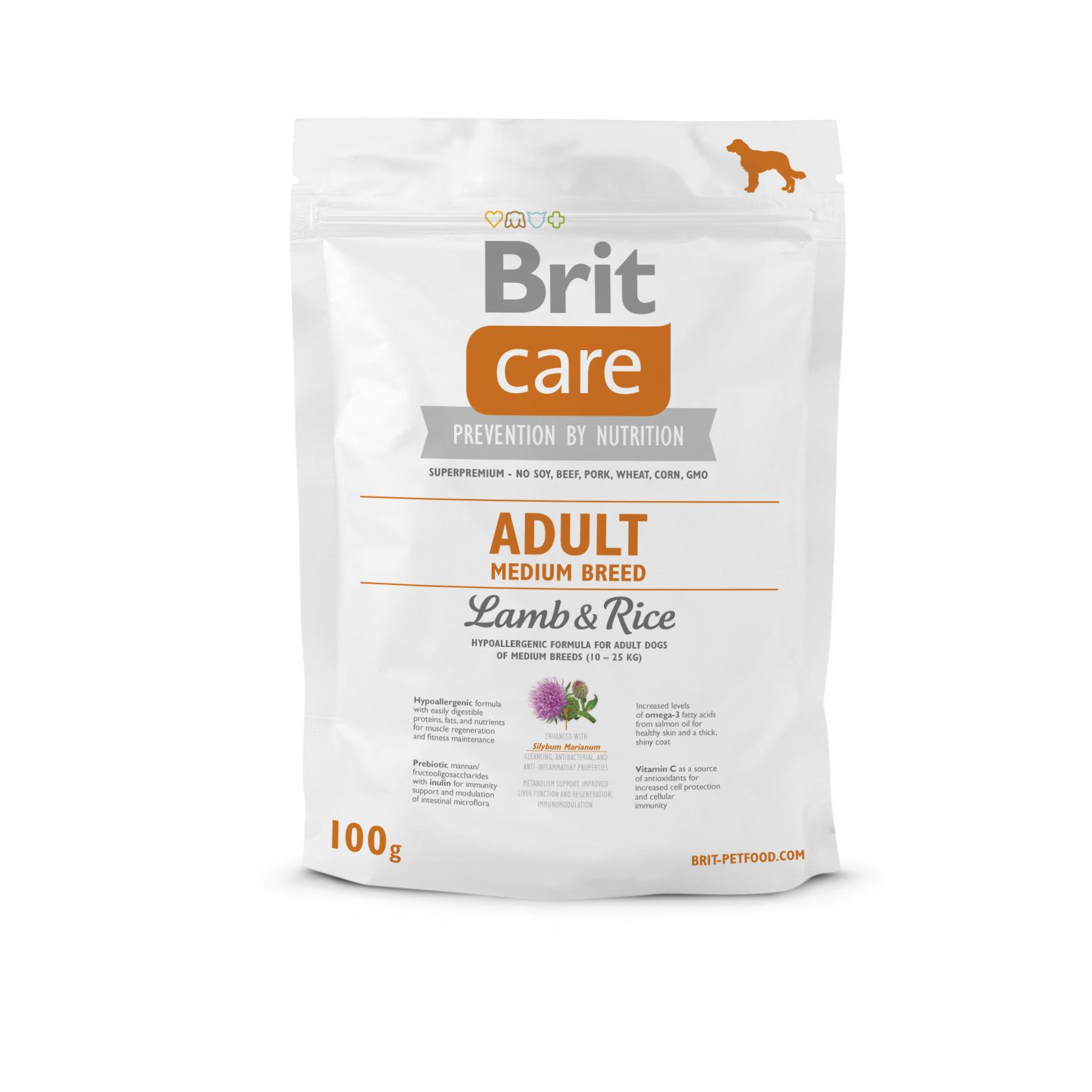 Probe Brit Care Dog - Adult Medium Breed Lamb & Rice