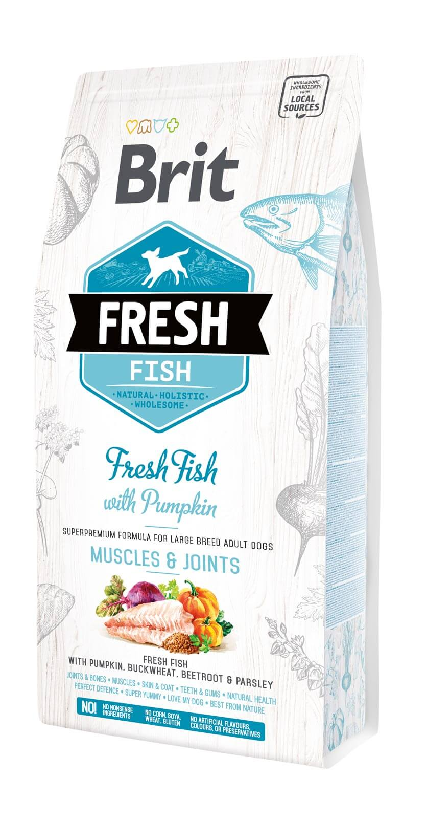 Brit Fresh Hund  – Adult Large Breed –  Fish –  Muscles & Joints
