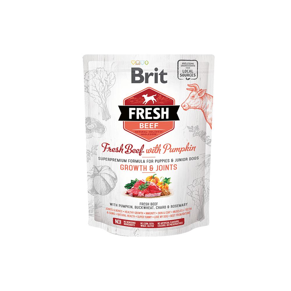 Probe Brit Fresh Hund  – Puppy & Junior Large Breed – Beef –  Growth & Joints
