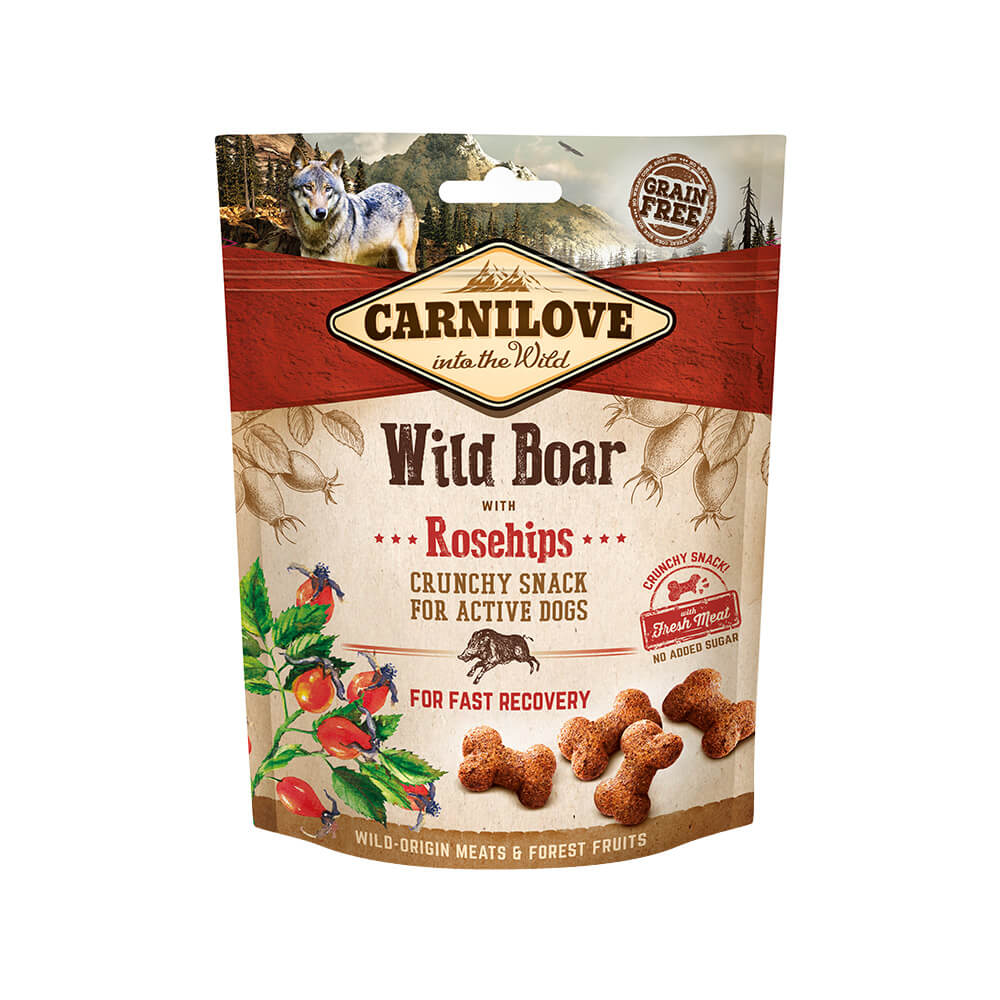 Carnilove Hund Crunchy Snack – Wild Boar with Rosehips