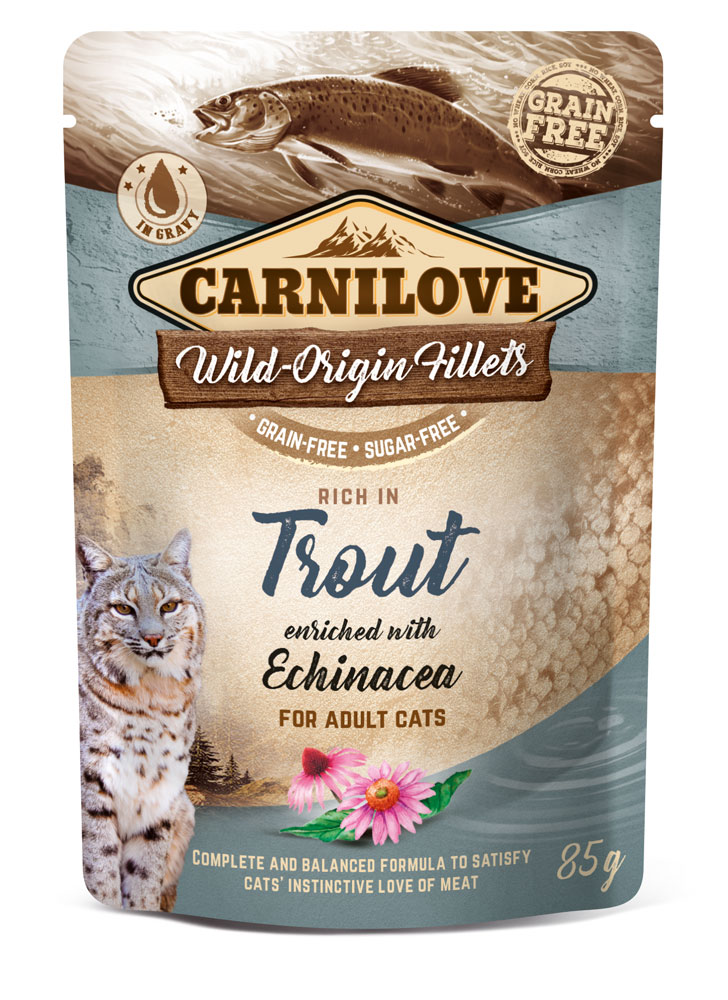 Carnilove Katze Pouch – Trout with Echinacea