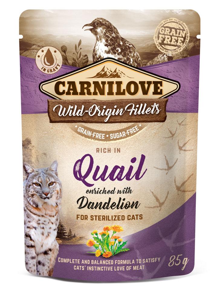 Carnilove Katze Pouch – Quail with Dandelion for sterilized Cats