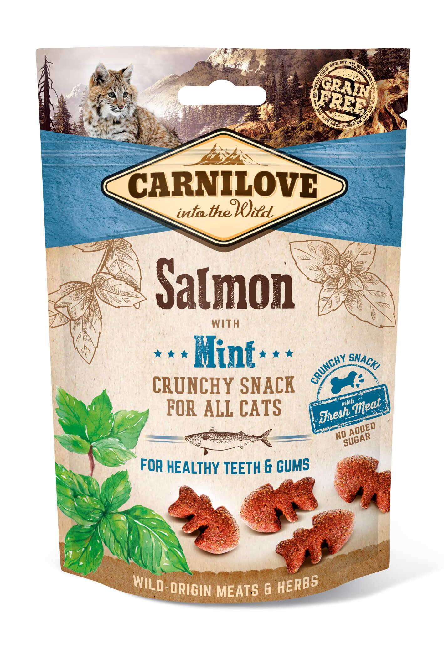 Carnilove Katze Crunchy Snack – Salmon with Mint