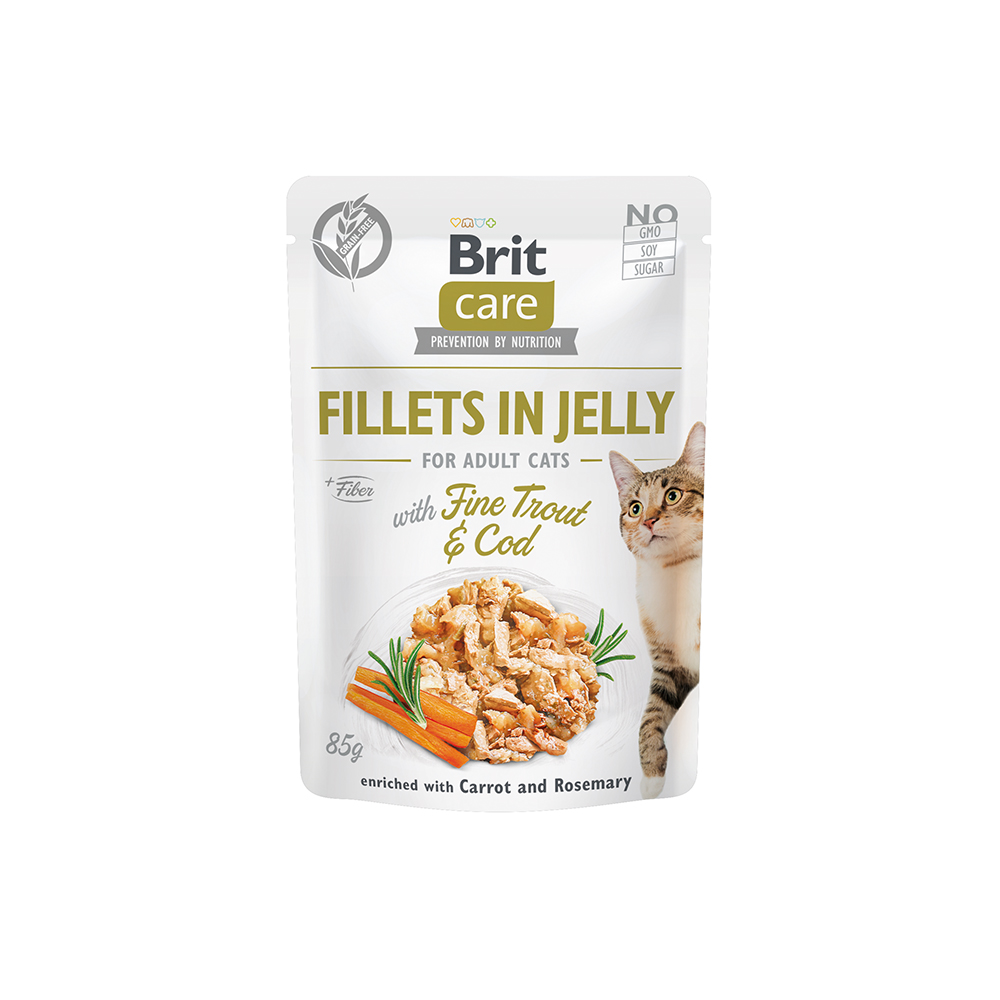 Brit Care Cat - Fillets in Jelly with Fine Trout & Cod
