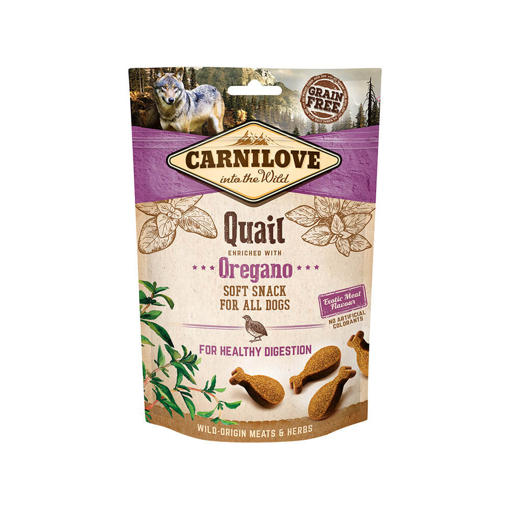 Carnilove Hund Soft Snack – Quail with Oregano