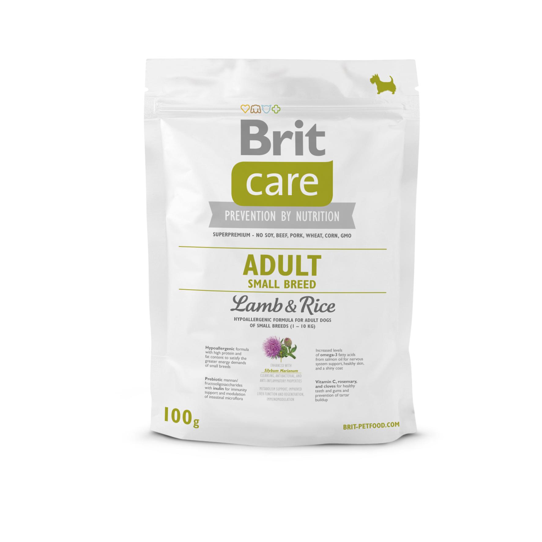 Probe Brit Care Dog - Adult Small Breed Lamb & Rice