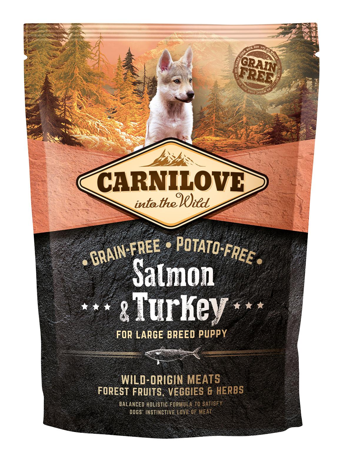 Carnilove Hund - Salmon & Turkey Welpen großer Rassen
