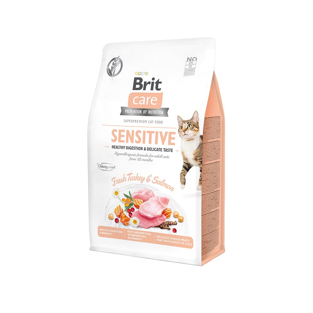 Brit Care Cat Grain-Free - Sensitive - Healthy Digestion & Delicate Taste