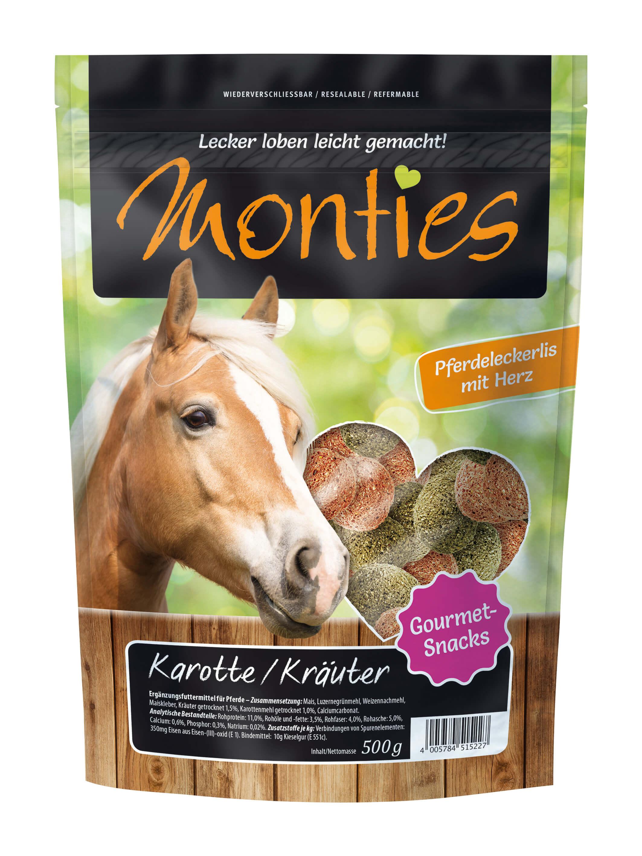 Monties - Karotte/Kräuter-Snacks